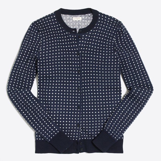 Dotted Caryn cardigan sweater
