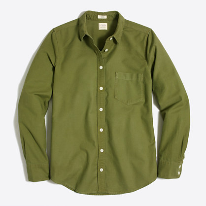 Sunwashed garment-dyed oxford shirt in boy fit