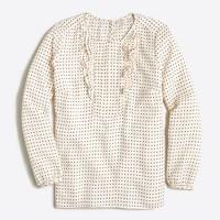 Printed ruffle blouse