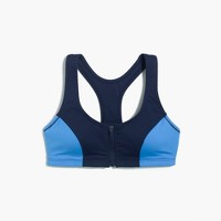 New Balance for J.Crew® performance zip-front sports bra in colorblock