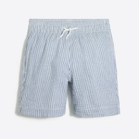 Boys' seersucker swim trunk