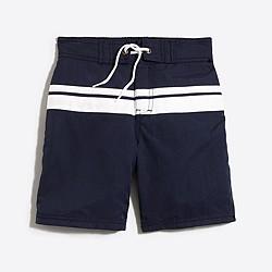 Boys' double stripe board short