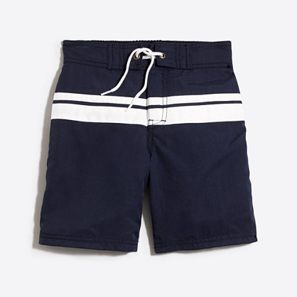 Boys' double stripe board short