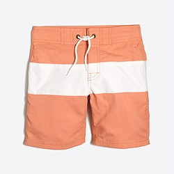Boys' striped board short