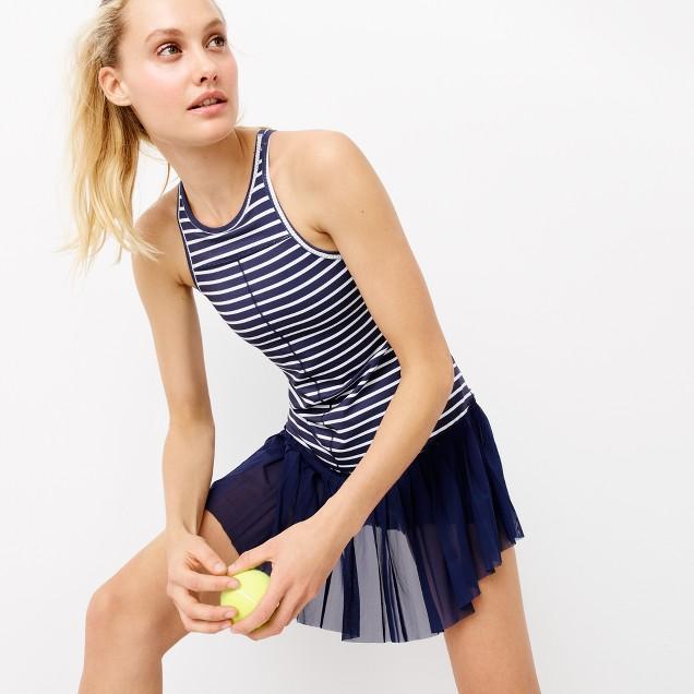 New Balance® for J.Crew tennis dress in stripe