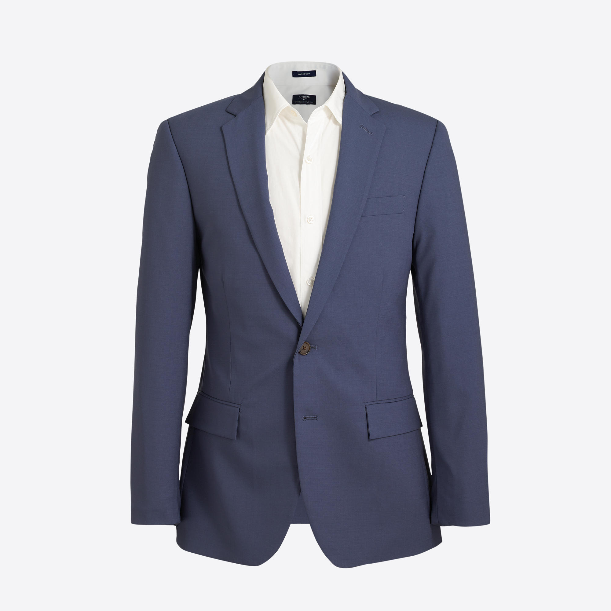 Slim Thompson suit jacket in lightweight flex wool : FactoryMen ...