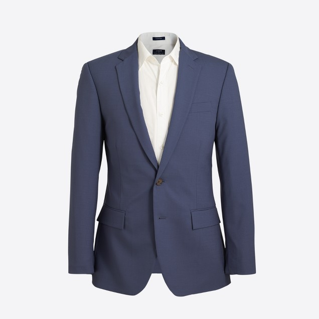 Slim Thompson suit jacket in lightweight flex wool