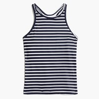 New Balance® for J.Crew striped racerback tank top with built-in sports bra