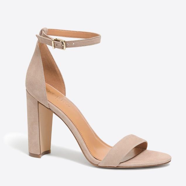 Suede chunky-heel sandals