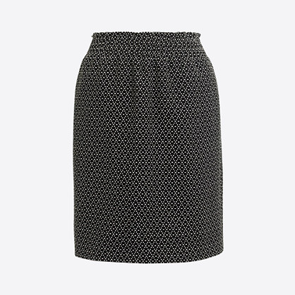 Dot jacquard mini skirt