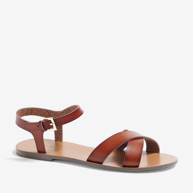 Crisscross ankle-strap sandals