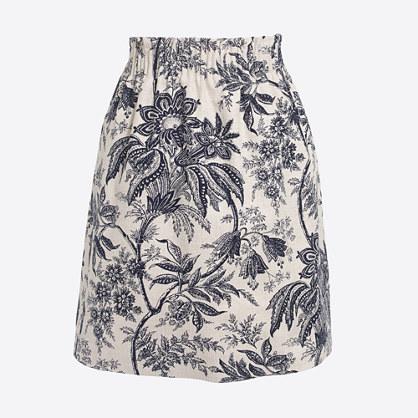 Printed dobby mini skirt