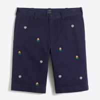 "11"" embroidered Rivington short"