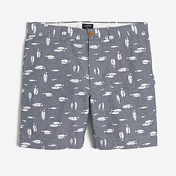 "7"" printed chambray Reade short"