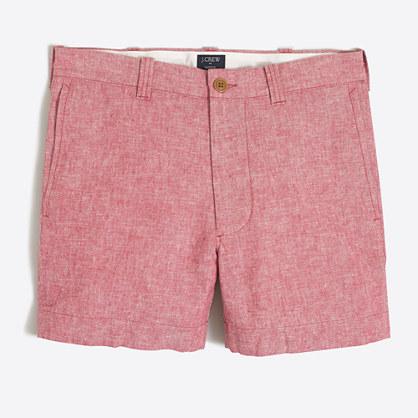 "5"" linen-cotton Varick short"