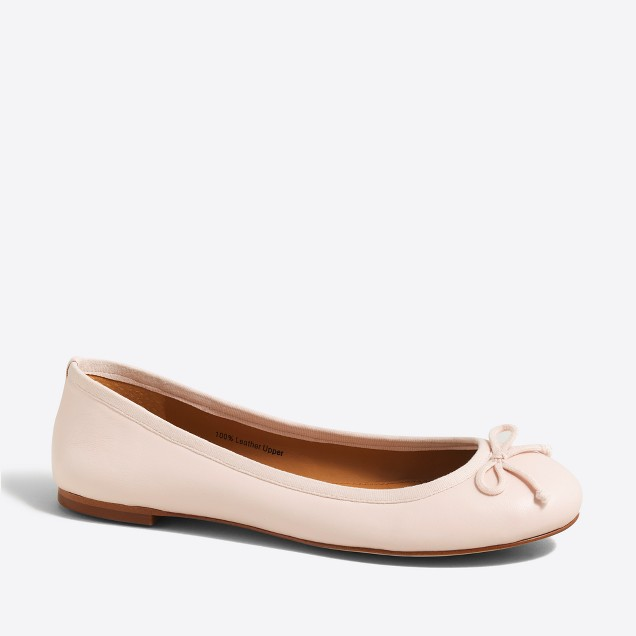 Coco leather ballet flats