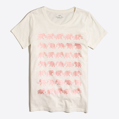Striped elephant collector T-shirt