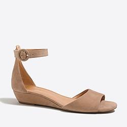 Suede demi-wedge sandals