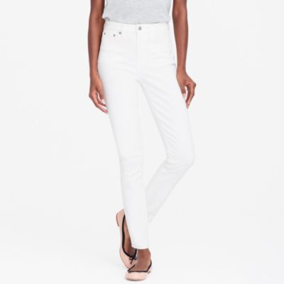 "White wash high-rise skinny jean with 28"" inseam"