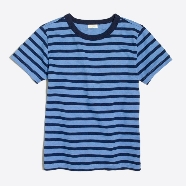 Boys' retro stripe T-shirt