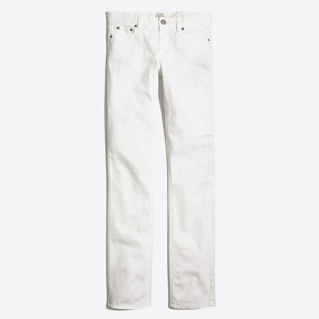 "White wash straight & narrow jean with 31"" inseam"