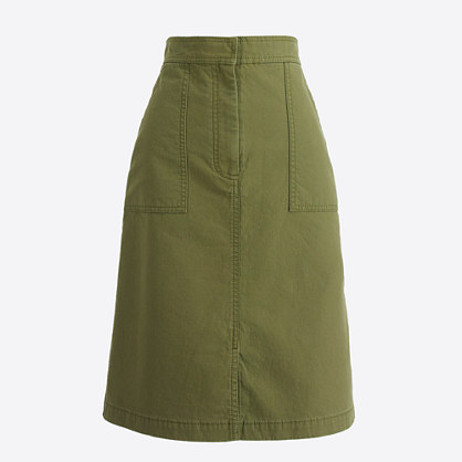 Cotton A-line skirt with pockets
