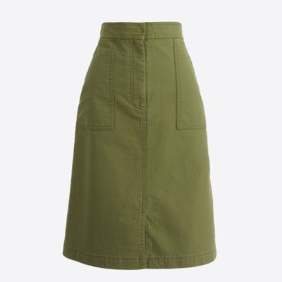 Cotton A-line skirt with pockets : FactoryWomen Midi & Maxi | Factory