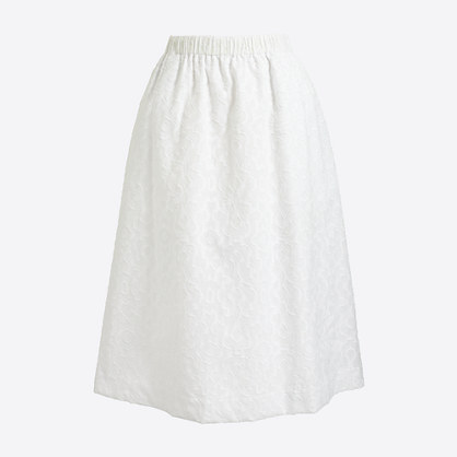 Cotton A-line midi skirt