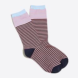 Microstripe trouser socks