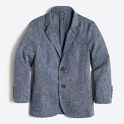 Boys' Thompson unconstructed blazer in linen-cotton