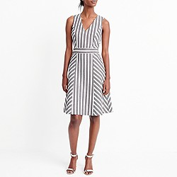 Striped herringbone dress