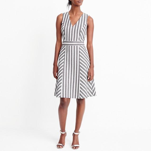 Striped herringbone dress