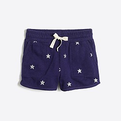 Girls' glitter stars pull-on short