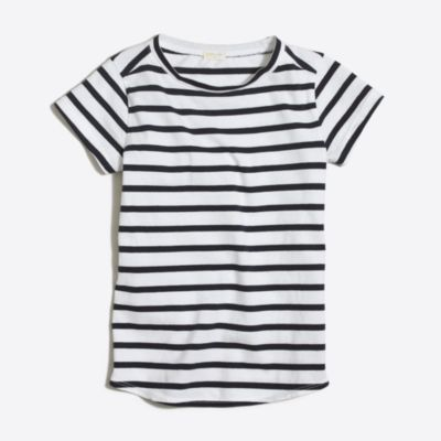Girls' striped shirttail-hem T-shirt factorygirls made-for-play basics under $25 c