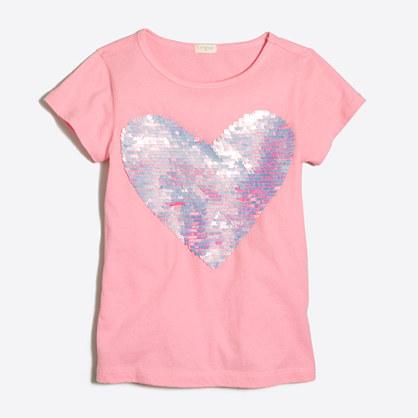 Girls' heart keepsake T-shirt