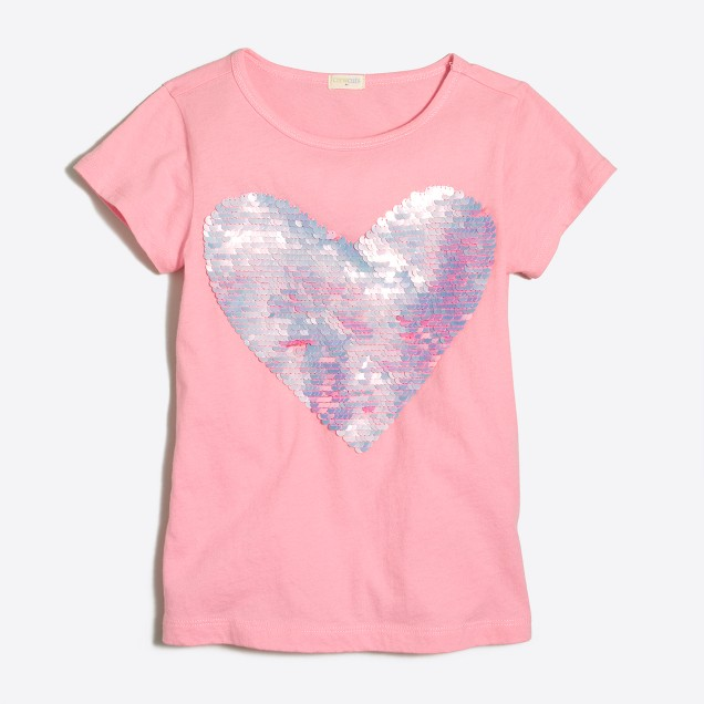 Girls' heart keepsake T-shirt