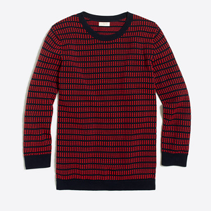 Dot-dash three-quarter sleeve sweater