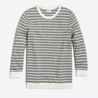 Dot-dash three-quarter sleeve sweater