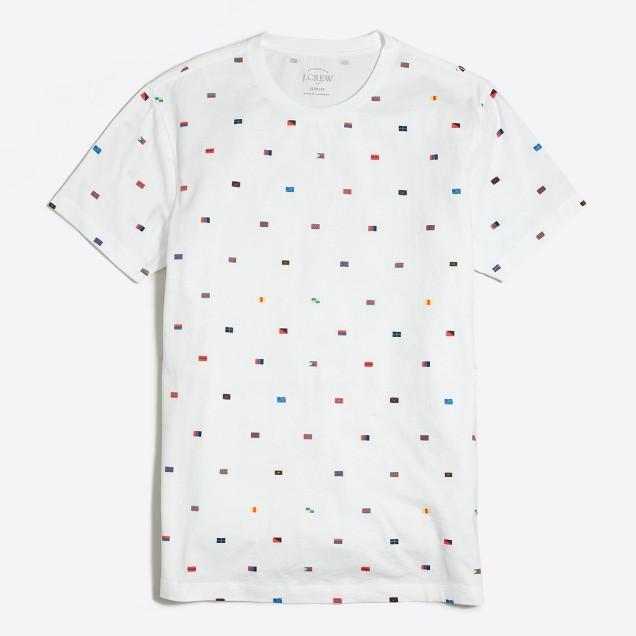 Slim nautical flags T-shirt