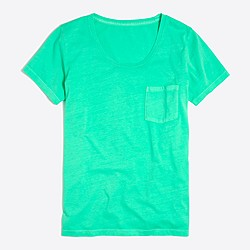Sunwashed garment-dyed pocket T-shirt