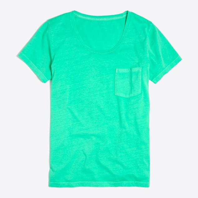 Sunwashed garment-dyed pocket T-shirt