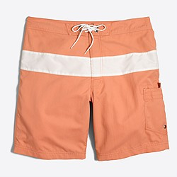 "9"" striped swim short"
