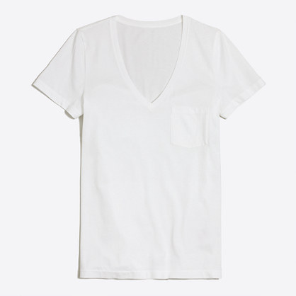 Piece-dyed V-neck T-shirt