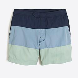 "7"" colorblock swim short"