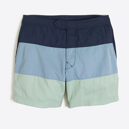 "7"" colorblock swim short"