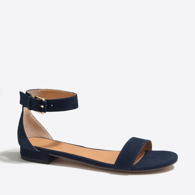 Hadley suede ankle-strap sandals