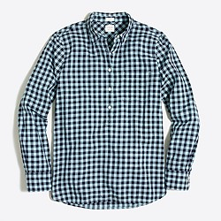 Gingham gauze shirt in boy fit