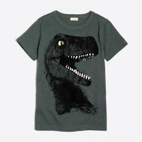 Boys' glow-in-the-dark T.rex storybook T-shirt