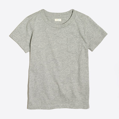Boys' short-sleeve heathered jersey pocket T-shirt