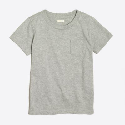 Boys' short-sleeve heathered jersey pocket T-shirt factoryboys online exclusives c